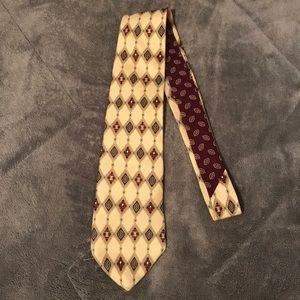 Tommy Hilfiger Vintage Tie Cream Burgundy Green